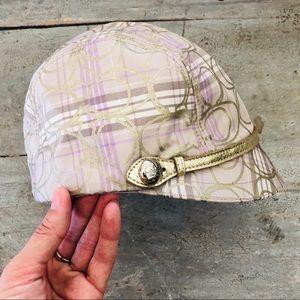 ♥️ Coach ♥️ Striped Riding Hat